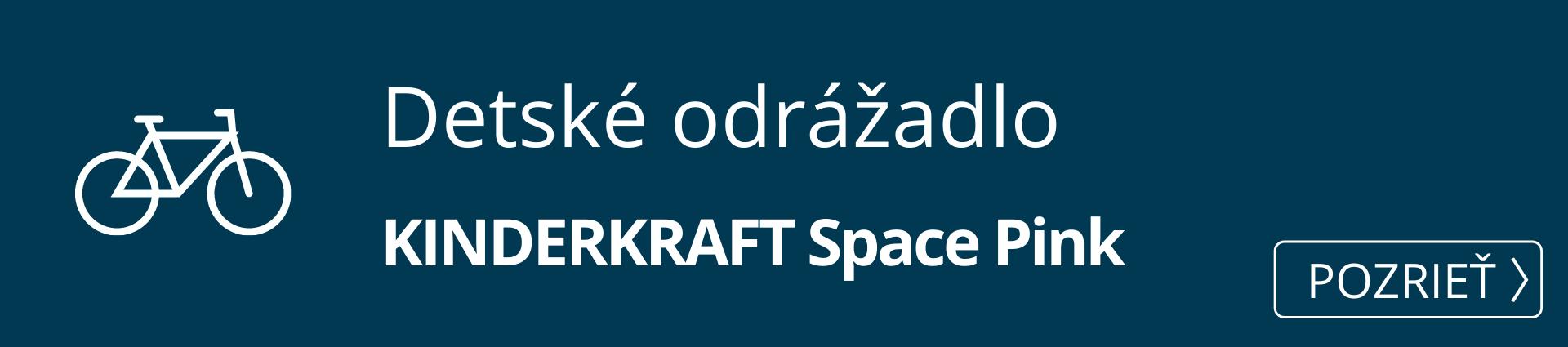 Detské odrážadlo KINDERKRAFT Space Pink