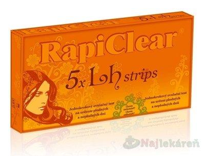RapiClear 5 x Lh strips ovulačný test 5ks