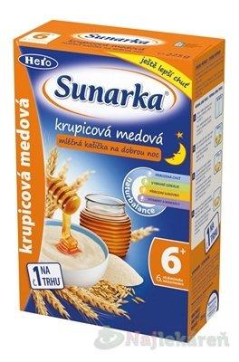 SUNAREK krupicová kašička s medom na dobrú noc mliečna (od ukonč. 6. mesiaca) 1x225 g