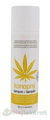 MEDICPROGRESS Cannabis Care konopný šampón (with Hemp oil, Olive oil, D-panthenol) 200 ml