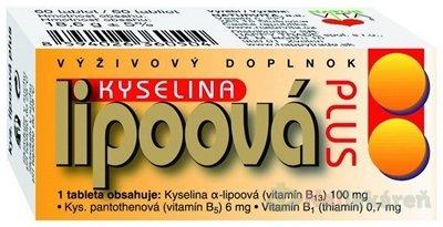 NATURVITA KYSELINA LIPOOVA Plus 60TBL - Kyselina lipoová Plus 60 tabliet