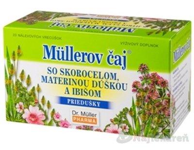 Müllerov čaj SO SKOROCELOM, MATER. DÚŠKOU A IBIŠOM bylinný čaj 20 x 1,5 g 30 g
