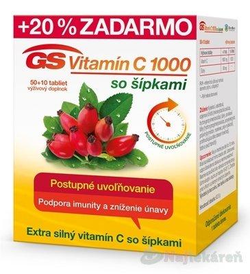GS Vitamín C 1000 so šípkami 60 kapsúl