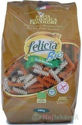 Felicia Cestoviny BIO ryžové Fusilli Tricolore 500g