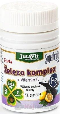 Juvita Železo + Vitamín C 40 tabliet