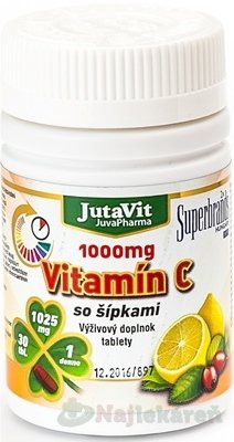 JutaVit Vitamín C 1000 mg so šípkami 30 tabliet