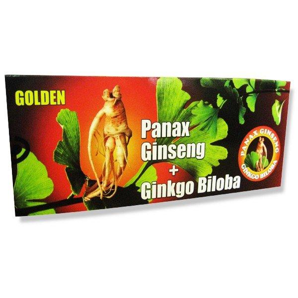 Golden Panax Ginseng + Ginkgo Biloba + Magnézium 10x10 ml