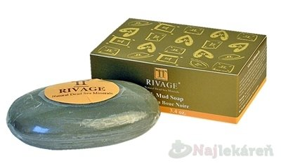 Rivage Čierne mydlo s bahnom 100 g