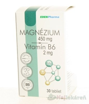 EDENPharma MAGNÉZIUM + Vitamín B6 30 tabliet