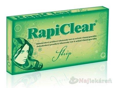 RapiClear Tehotenský test Strip 1ks