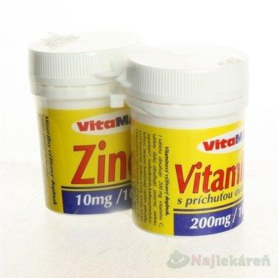 Vitamax Zinok 10MG + VITAMÍN C 200MG 200 tabliet
