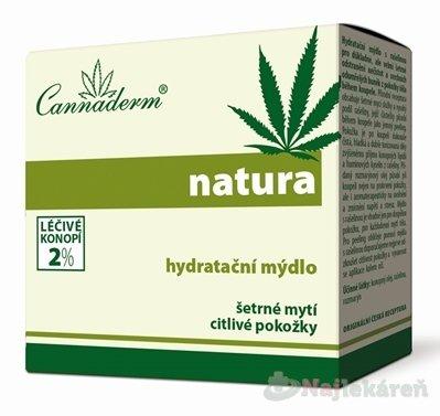 Cannaderm NATURA hydratačné mydlo 100ml
