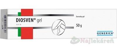 DIOSVEN gel 1x50 g - Generica Diosven gél 50 g + Rutascorbit 60 tabliet