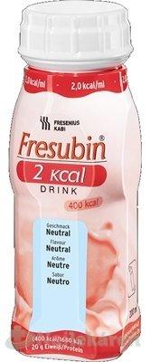 Fresubin 2,0 kcal /ml Drink príchuť neutrálna 4x200 ml (800 ml)