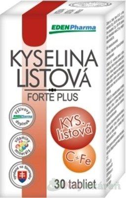 EDENPharma KYSELINA LISTOVÁ Forte Plus 30 tabliet