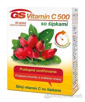 GS Vitamín C 500 so šípkami 2016 30 tabliet
