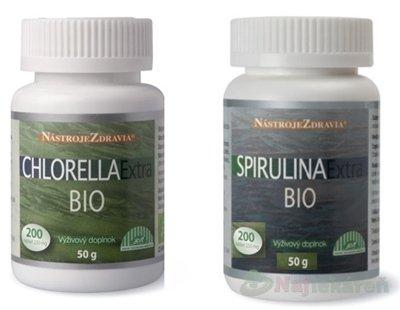 CHlorela Spirulina extra BIO 2X200 tbl.