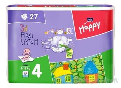Bella HAPPY 4 MAXI detské plienky, 27ks - Bella Happy maxi 27 ks