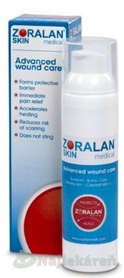 Oystershell NV Drongen ZORALAN Skin gél na ošetrenie rán 75 g