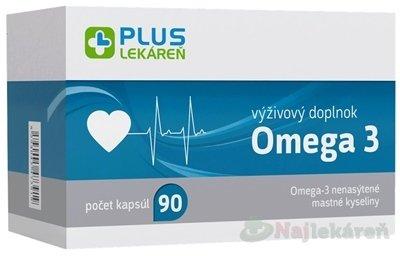 Plus lekareň Omega 3 90 cps