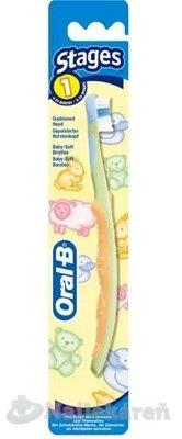 Oral-B ZK Stages 1 - Oral-B Zubná kefka pre deti Baby Soft