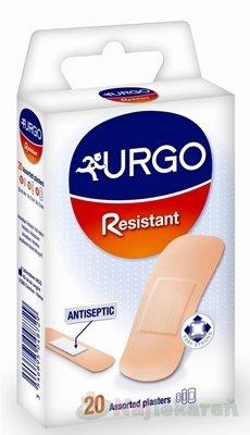 URGO Resistant Náplasť antiseptická, odolná, 3 veľkosti, 1x20 ks