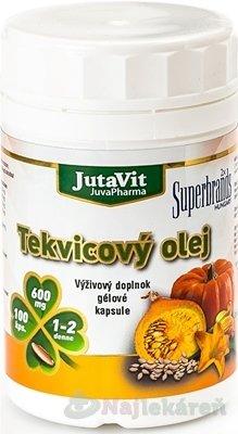 JutaVit Tekvicový olej v gélových kapsuliach 600mg 100cps