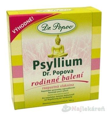 DR. POPOV PSYLLIUM výživový doplnok, 500g