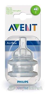 AVENT CUMLÍK na fľašu Klasik 2 otvory 2ks - Philips AVENT Klasik 2 otvory od 1 m 2 ks