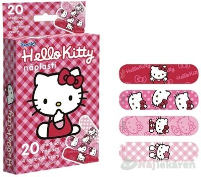 Hello Kitty sterilné detské náplasti 20ks