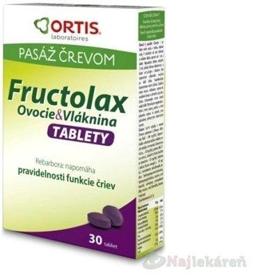 Fructolax Ovocie a Vláknina 30 tabliet