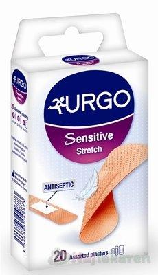 URGO Sensitive Stretch náplasť na citlivú pokožku, 3 veľkosti, 20ks - Urgo Sensitive Stretch náplasť 3 veľkosti 6 ks 20 x 40 mm, 10 ks 20 x 72 mm, 4 ks 34 x 72 mm