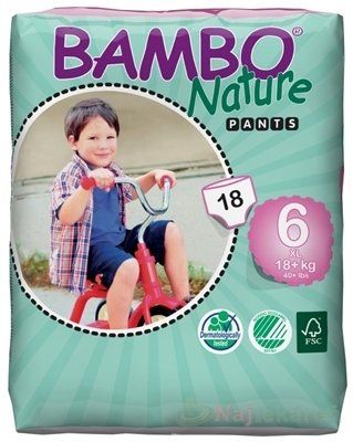BAMBO PANTS XL-6 pre deti 18+ kg