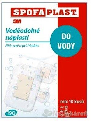 3M SPOFAPLAST č.190 Vodeodolné náplasti mix 3 veľkostí, transparentná fólia 10ks