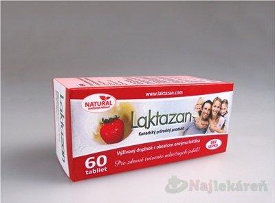 LAKTAZAN tablety, enzým laktáza s príchuťou jahody 60 tbl