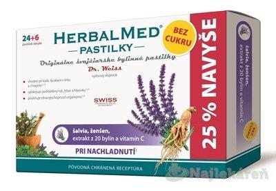 Simply You Herbal Med BEZ CUKRU šalvia ženšen vitamín C 30 pastiliek