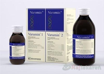 Varumin 1 a Varumin 2, perorálny roztok, 50 ml + 200 ml