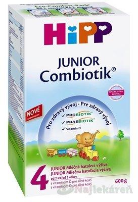 HiPP 4 JUNIOR Combiotik (nové 2014), mliečna batoľacia výživa (od 2 rokov ) 600 g