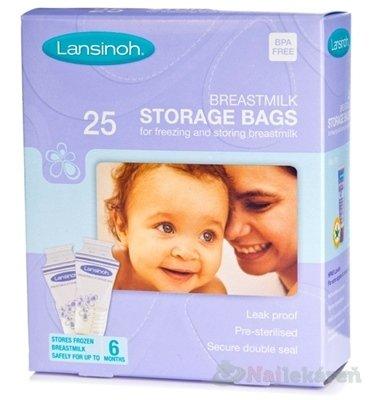 LANSINOH vrecká na skladovanie materského mlieka, 25 ks