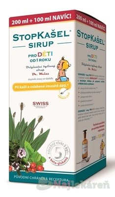 Dr.Weiss Stopkašel Sirup pre deti 300 ml