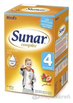 SUNAR COMPLEX 4 JAHODA, nový, mliečna výživa (od ukonč. 24. mesiaca) ,(2x300 g) 600 g