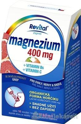 Revital Magnézium 400 mg + vitamín B6 + vitamín C 1 x 16 ks
