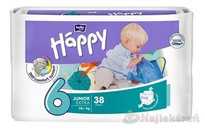 Bella HAPPY 6 JUNIOR EXTRA jednorázové plienky 38 ks