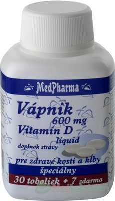 MedPharma Vápník 600mg + vit. D 37 kapsúl