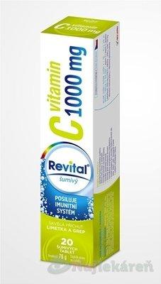 Revital vitamín C 1000 mg šumivý tbl eff s príchuťou limetky a grepu, 20 ks