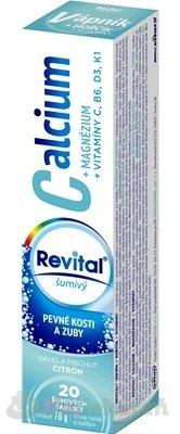 Revital Calcium + Magnézium + Vitamíny C B6 D3 K1 tbl eff s príchuťou citrónu 1 x 20 ks