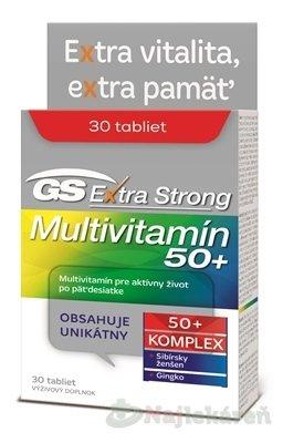 GS Extra Strong Multivitamín 50+, 30 tabliet