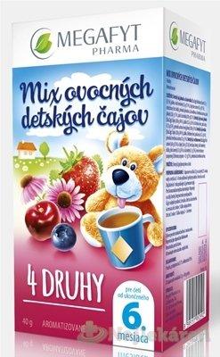 MEGAFYT MIX ovocných detských čajov 4 DRUHY, 20x2 g
