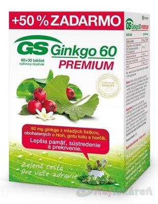 GS Ginkgo 60 Premium 60+30 tabliet