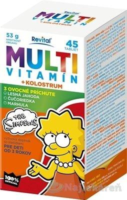 Revital Multivitamín The Simpsons želé 60ks, 5 ovocných príchutí